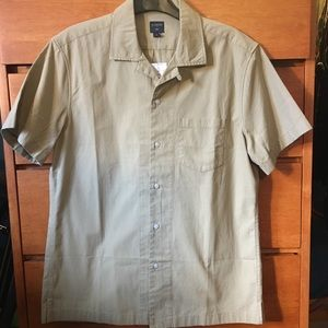 NWT J. Crew Camp Collar Summer Shirt, Khaki
